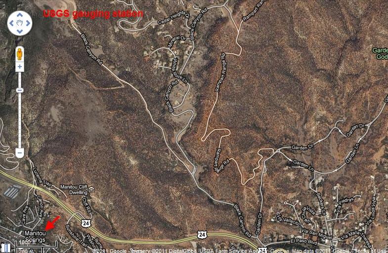 USGS gauging station near Colorado Springs
