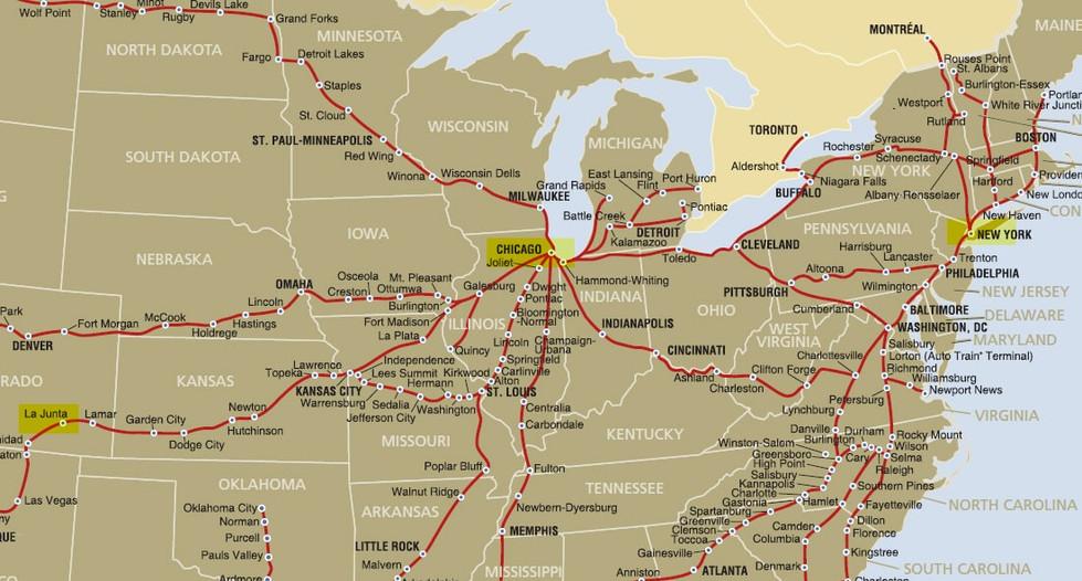 Train from La Junta to Chicago.