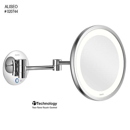 Aliseo Kosmetinis veidrodis LED SATURN su dviguba kojele