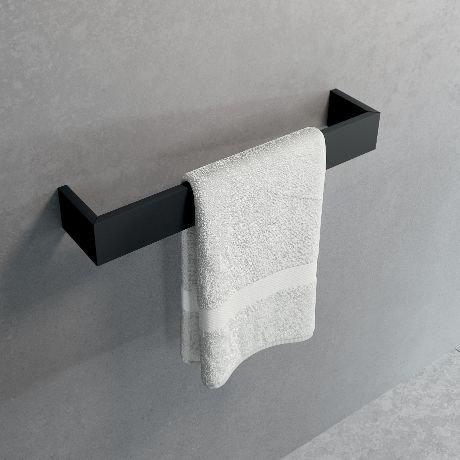 Novellini Frame rankšluosčių laikiklis, juodas matinis