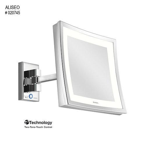 Aliseo Kosmetinis veidrodis LED CUBIK su vienguba kojele