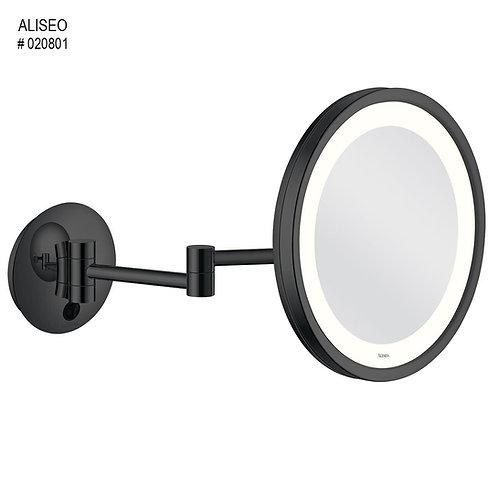 Aliseo kosmetinis veidrodėlis juodas matinis