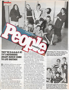 Real Live Brady Bunch People Magazine article