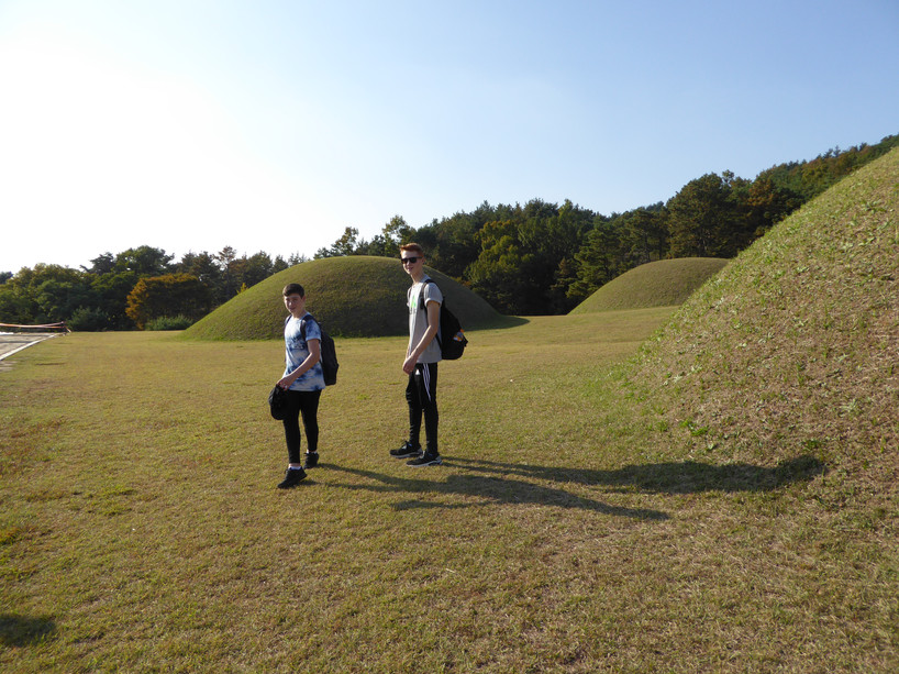 Burial mounds at the Buyeo Palace complex, South Korea. Mudo Academy
