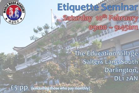 Upcoming Etiquette Seminar