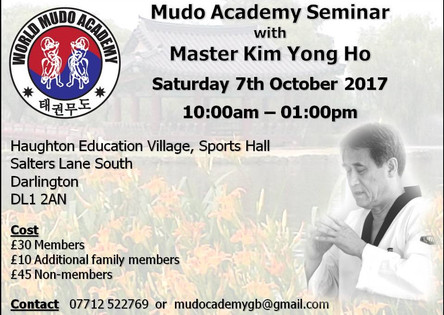 Upcoming Educational Seminar with Master Kim Yong Ho