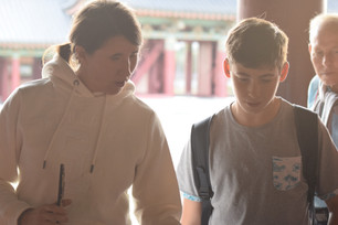 Master and student of The Mudo Academy in South Korea
