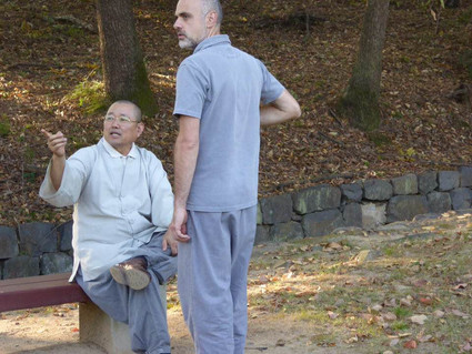 Knowledge comes in many forms. Master Kim Sang Tae with Master Stephane Sandeyron