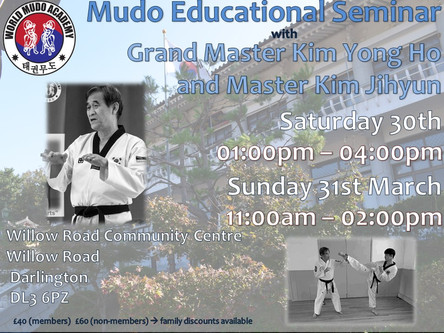 March 2019 - A Weekend of Seminars with Grand Master Kim Yong Ho