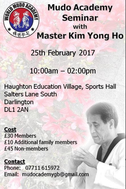 UK Mudo Academy Seminar - UPDATED