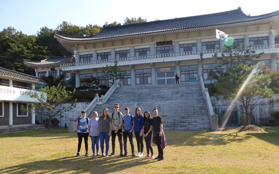 Mudo Academy students at the beautiful Dseung Muk Temple, Korea