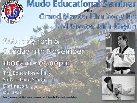 November - Mudo Educational Seminar Weekend