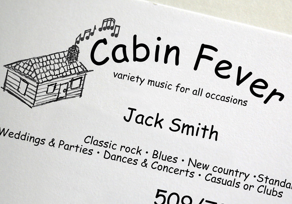 Cabin Fever Logo and Business Cards