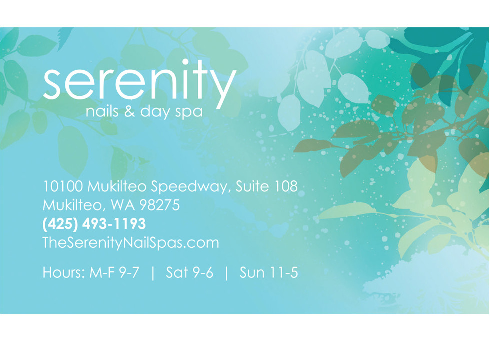 Serenity Nails & Day Spa Business Cards