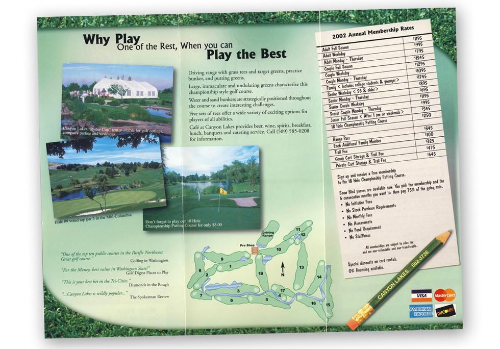 Canyon Lakes Golf Course Brochure
