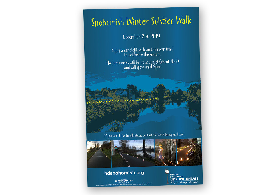 Historic Downtown Snohomish Association Winter Solstice Poster