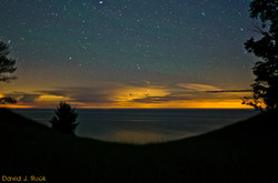 Stars over Lake Michigan