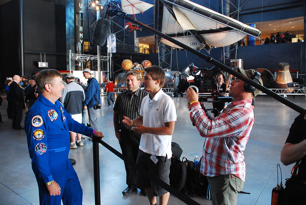 """Filming """"I want to be an Astronaut"""""""