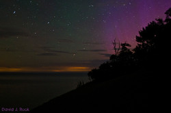Northern Lights over Lake Michigan