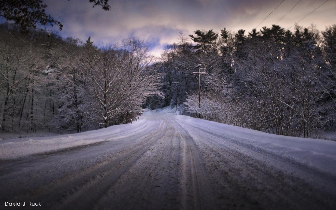 Snowy Roads in West Michigan