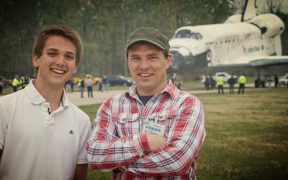 """Blair and I during the filming of """"I want to be an Astronaut"""""""