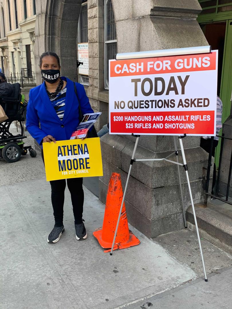 Gun buyback program in Harlem