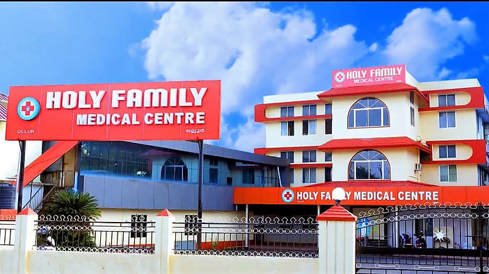 holy family medical centre front view picture, overview, about us, misson, vision, values