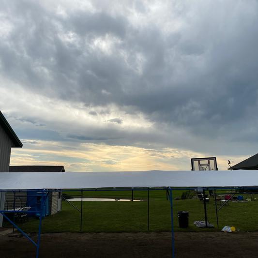 20x40 Graduation Tent Rental | Sanitation Rental
