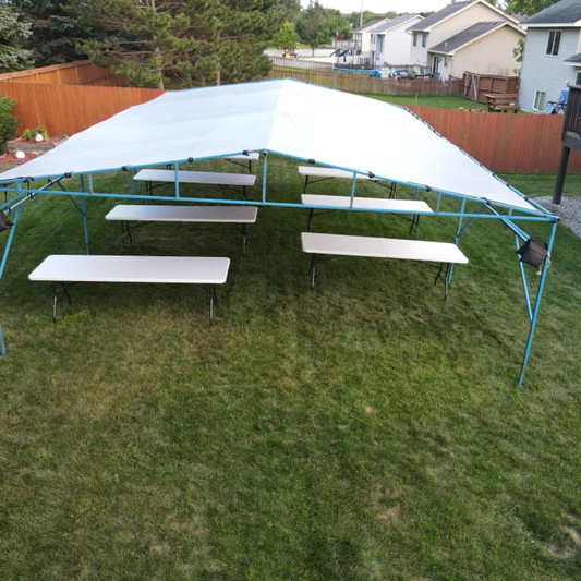 20x30 Graduation Party Tent Rental | Table and Chair Rental