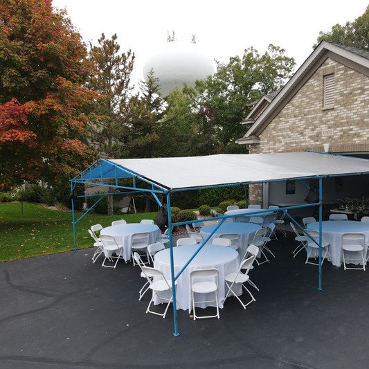 20x20 Wedding Tent Rental | Table and Chair Rental | Linen Rental