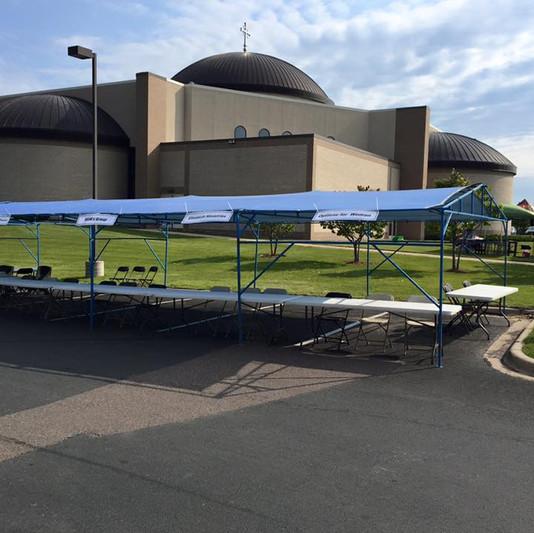 20x40 Church Festival Tent Rental