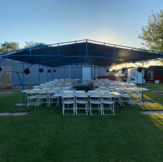 20x40 Wedding Tent Rental | Table and Chair Rental