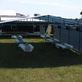 Gradutation Party Tent and Table Rental