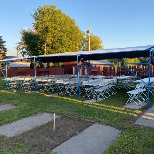 20x40 Wedding Tent Rental | Table Rental | Chair Rental