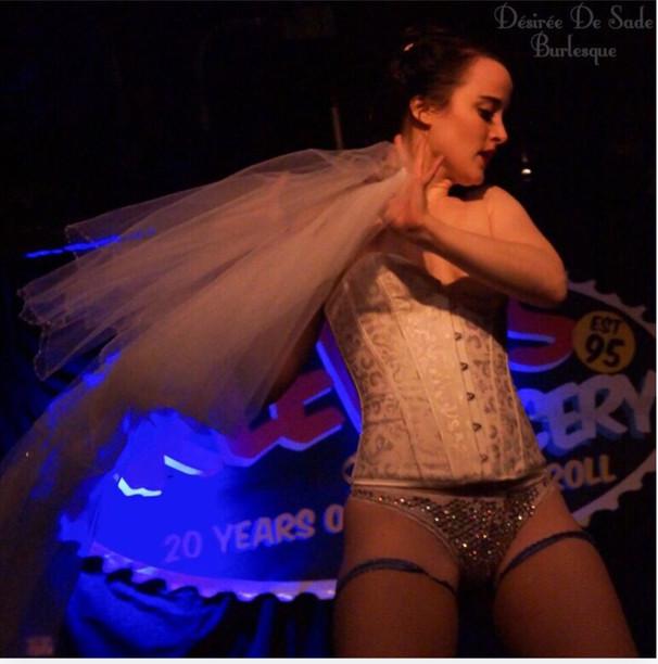 Bitsy as a Bride, Newlesque Show. Photgraphy by Desiree Desade.