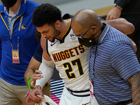Jamal Murray's season is over after suffering torn ACL against Golden State