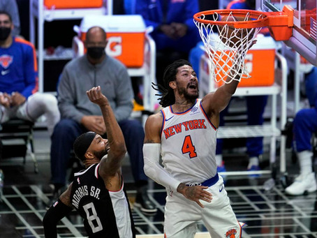 D-Rose inspires Knicks to win at Staples Center