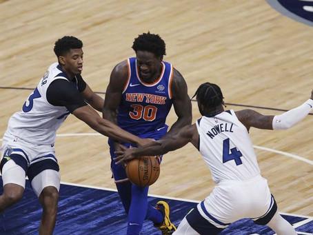 Knicks blow 18 point lead in Minnesota loss