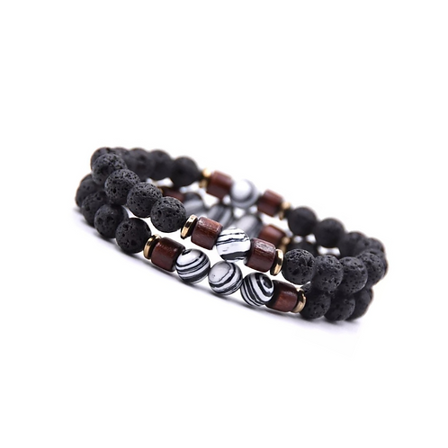 Tibetaanse White Stone armband