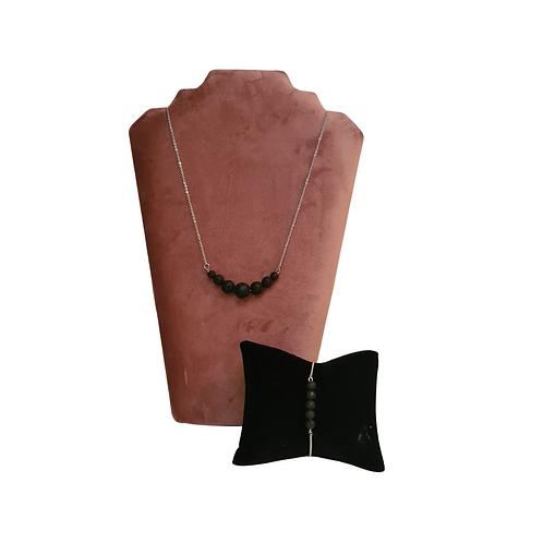 Lava Stone Kralen ketting & armband