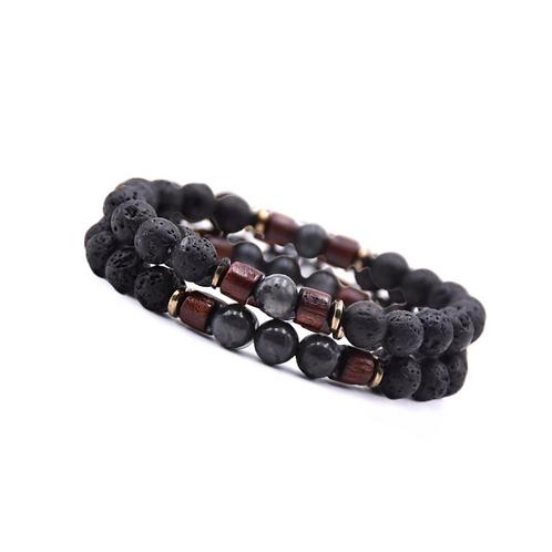 Tibetaanse Black Stone armband