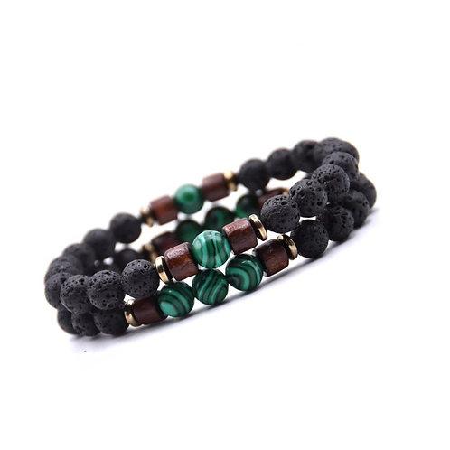 Tibetaanse Green Stone armband