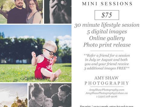 Summer Mini Session Special! {Comox Valley Photographer}