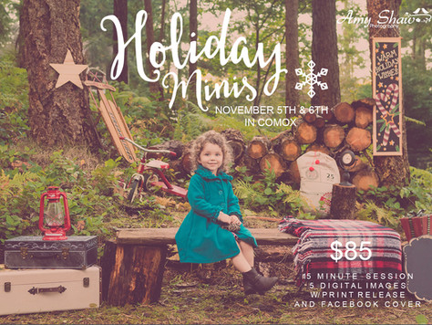 Book Your Holiday Mini Session Now!