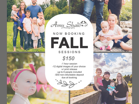 Book your fall session today!
