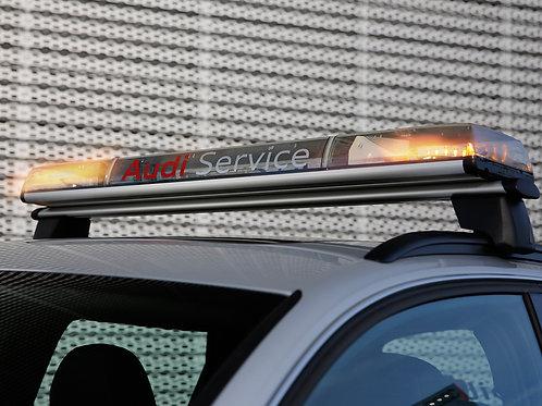 Ponte de sinalização LED 1200 x 210 x 92 mm - Cor das luzes  de cor Ambar