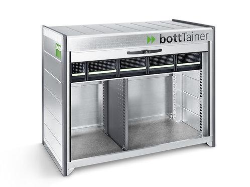 Contentor - 1x prateleira c/5 caixas e 2x compartimentos - 1365 x 710 x 910 mm
