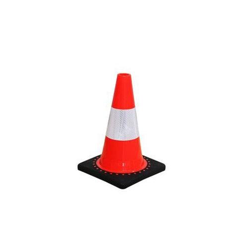 Cone de sinalização em PVC flexível de alta qualidade - 30 cm de altura