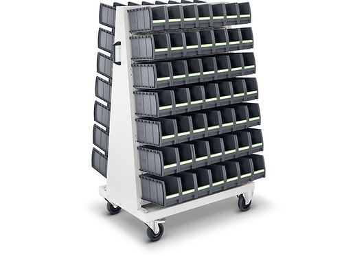 Carro de transporte com 98 caixas botBox M3 - 1000 x 650 x 1600 mm