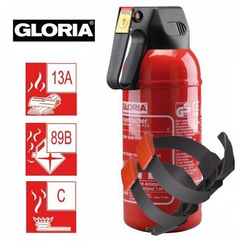 Extintor Gloria 2 Kg pó químico ABC - Com suporte de fixação